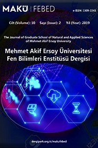 The Journal of Graduate School of Natural and Applied Sciences of Mehmet Akif Ersoy University