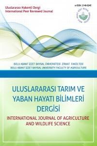 Uluslararası Tarım ve Yaban Hayatı Bilimleri Dergisi