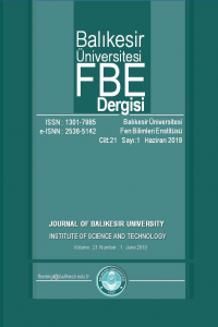 Journal of Balıkesir University Institute of Science and Technology
